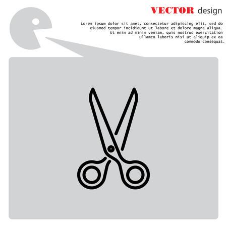 Web line icon. Scissors Illustration