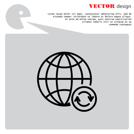 retry: Web line icon. Reloading internet, update online Illustration