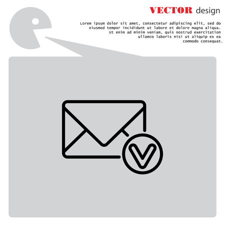 sign post: Web line icon. Received message