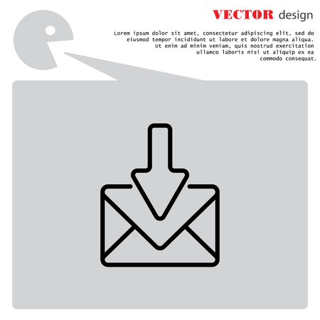 sign post: Web line icon. Incoming mail, message Illustration