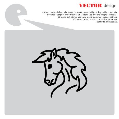 웹 아이콘입니다. 말; 야생 동물; 가축