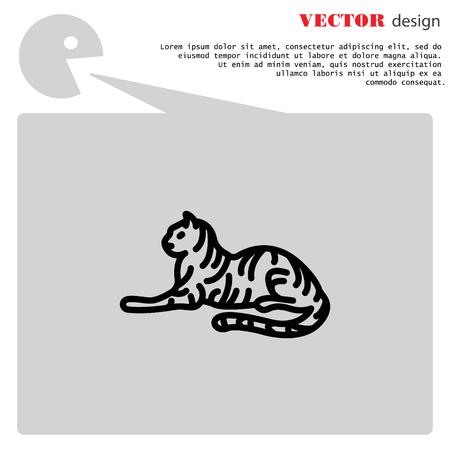Web line icon. Tiger; wild animals