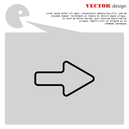 Web line icon. Arrow right Illustration