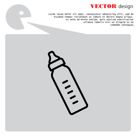 Web line icon. Baby bottle Ilustrace