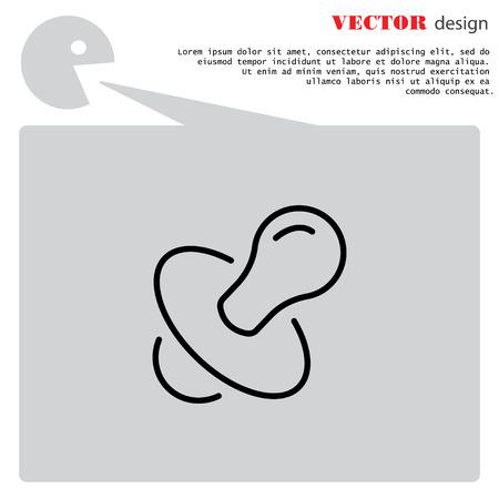 Web line icon. Nipple