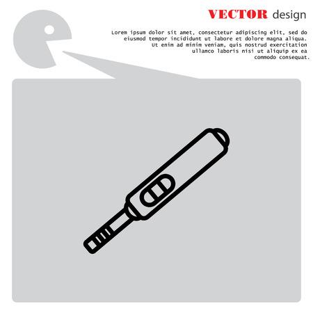 Web line icon. Pregnancy test.