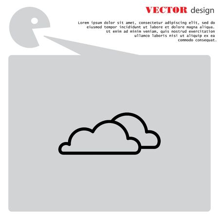 Web icon. Clouds. vector illustration