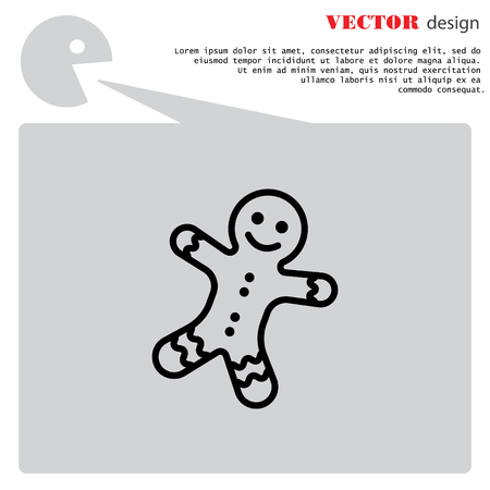 Web line icon. Christmas gingerbread