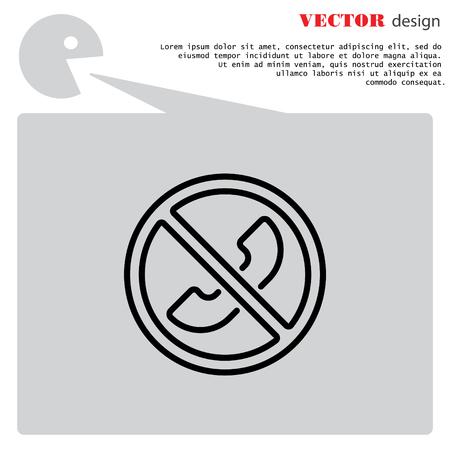 refrain: Web icon. Forbidden call, Calls banned
