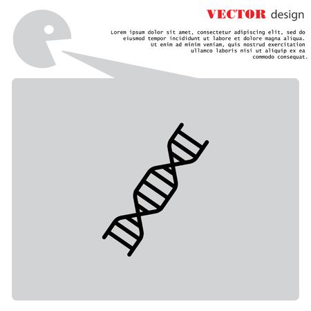 Web line icon. DNA molecule