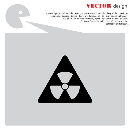 cray: Web icon. Radiation hazard Illustration