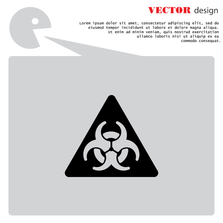 hazard: Web icon. Radiation hazard Illustration