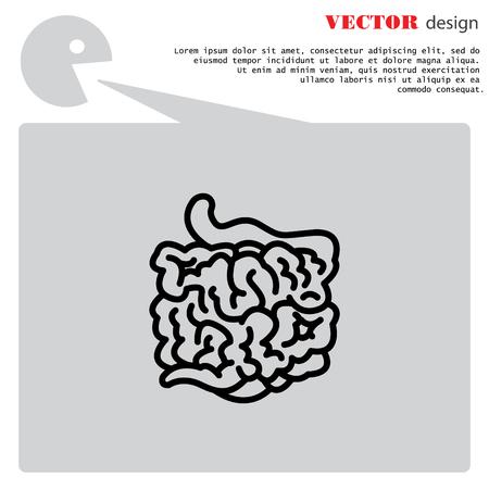 small intestine: Web line icon. Small intestine