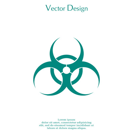 Biohazard symbol. vector sign isolated.