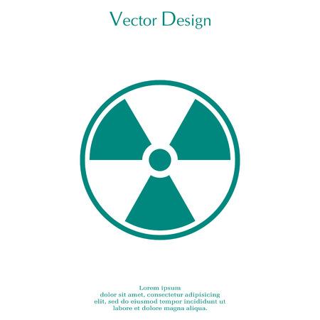 Flat radiation icon. Illustration