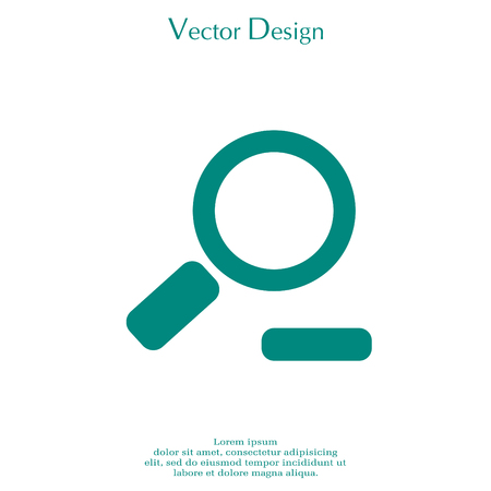 Zoom out, web icon. Vector design