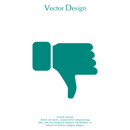 deny: Vector hand with thumb down icon