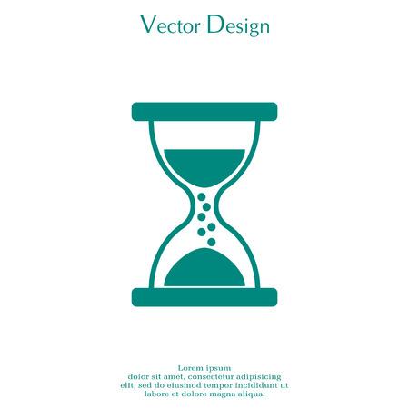 Hourglass icon vector.