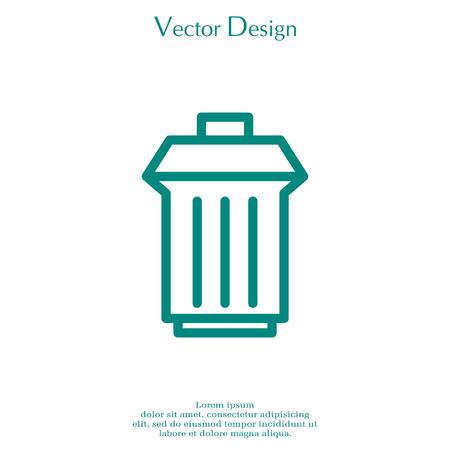 trashcan: trashcan icon Illustration