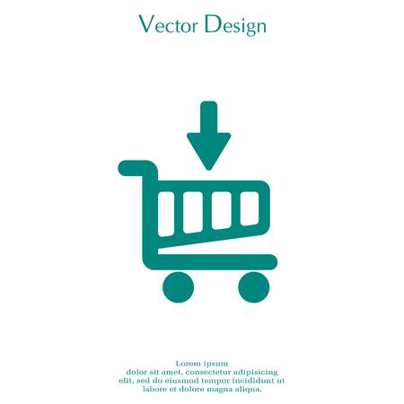 A shopping cart (basket) icon. Illustration