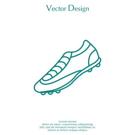 Soccer boots label - vector illustration.