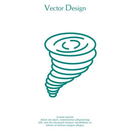 tempest: Tornado, vector icon.