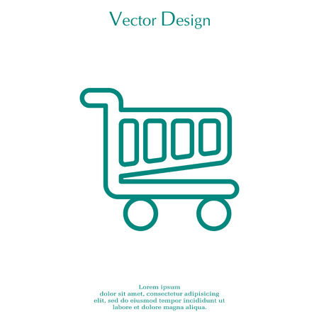 A Vector shopping cart line icon.