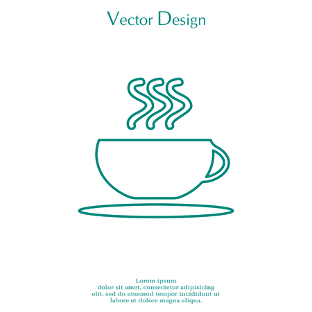 Coffee cup line icon Фото со стока - 79172393