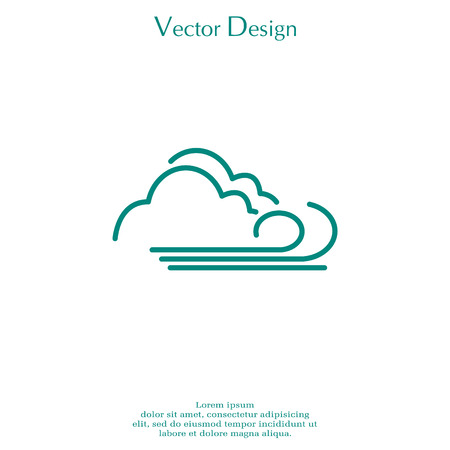 disaster: cloudy and the wind icon