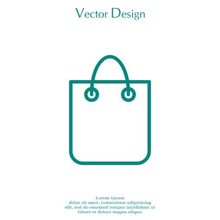 shopping bag - vector line icon Illustration