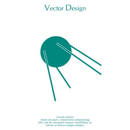 Satellite sign icon, vector illustration. Flat design style