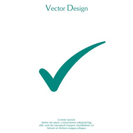 quadrate: Check mark symbol, vector