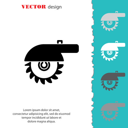 Web line icon. Circular saw Illustration
