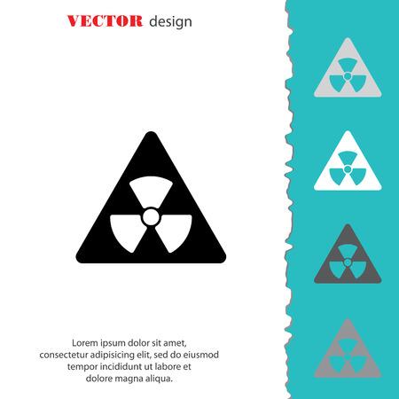 Web icon. Radiation hazard Illustration