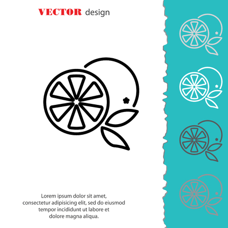 rinds: Web line icon. Orange Illustration