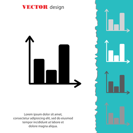 Web line icon. Business graph Illustration