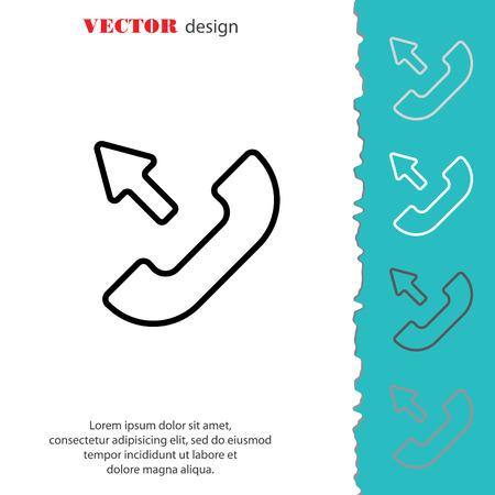 outgoing: Web icon. Outgoing call Illustration