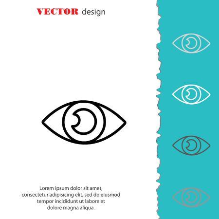 finding: Web line icon. Eye Illustration