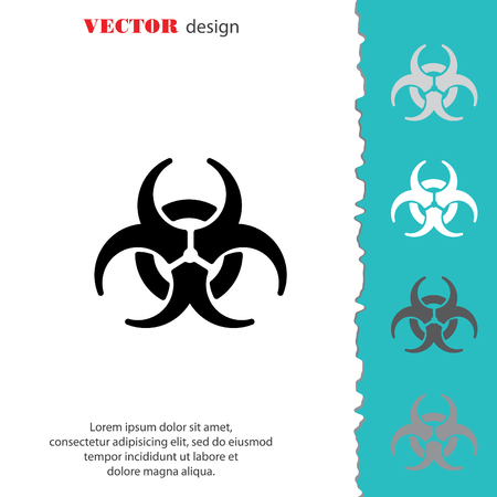 hazard: Web icon. Radiation hazard, biohazard