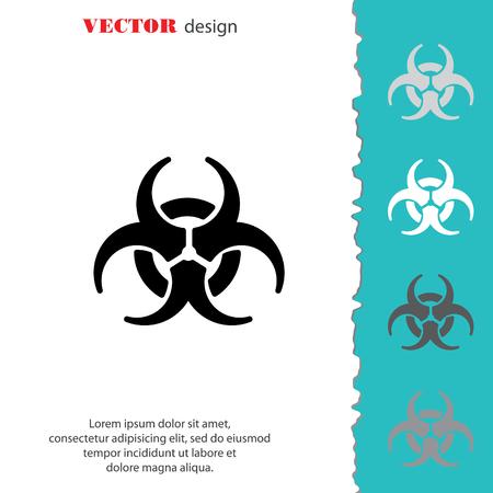 cray: Web icon. Radiation hazard, biohazard