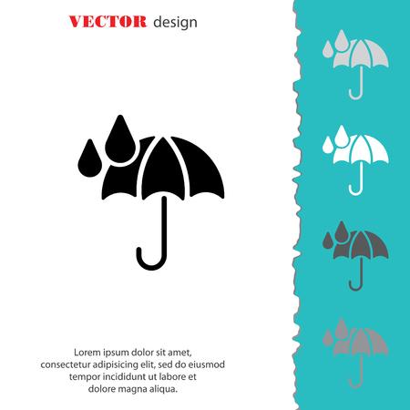 torrential: Web icon. Umbrella and rain