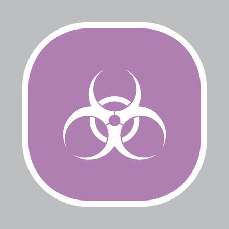 biohazard symbol. vector sign isolated royalty free cliparts