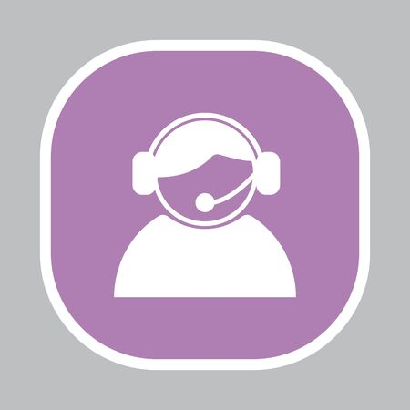 call center operator with headset.