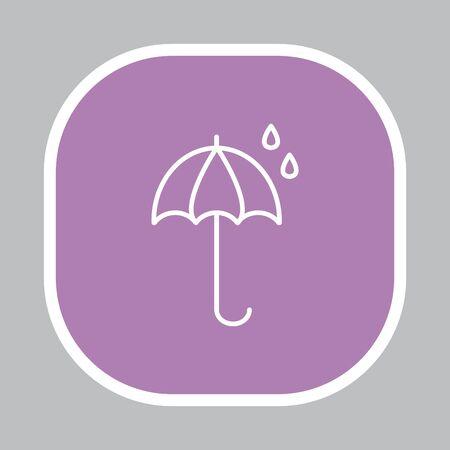 umbel: umbrella icon line