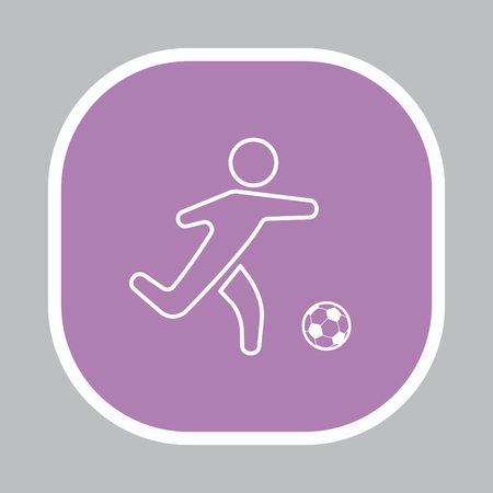 european culture: football (soccer) player silhouette with ball isolated