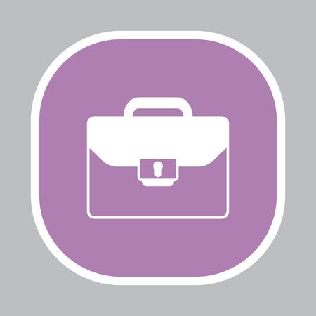 money packs: Briefcase icon, vector illustration.