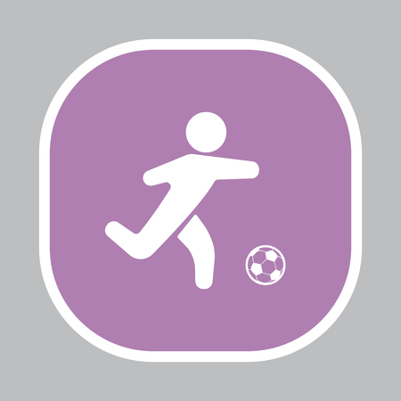 european culture: football (soccer) player silhouette with ball