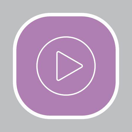 Play line icon Illustration