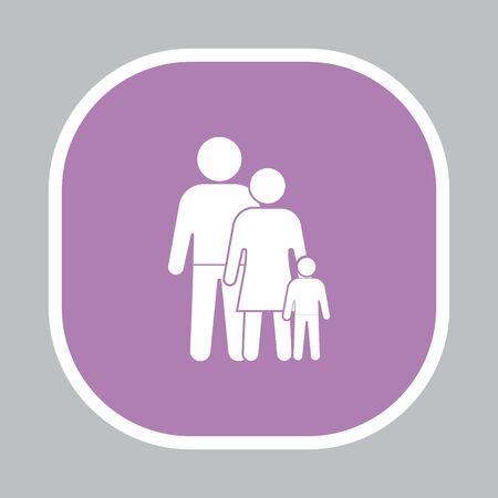 child care: family Icon Illustration