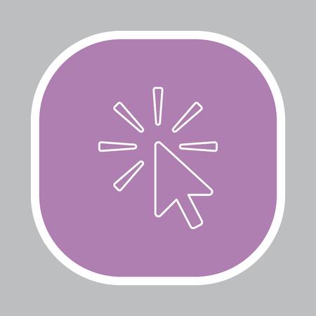 Click line Icon Ilustração